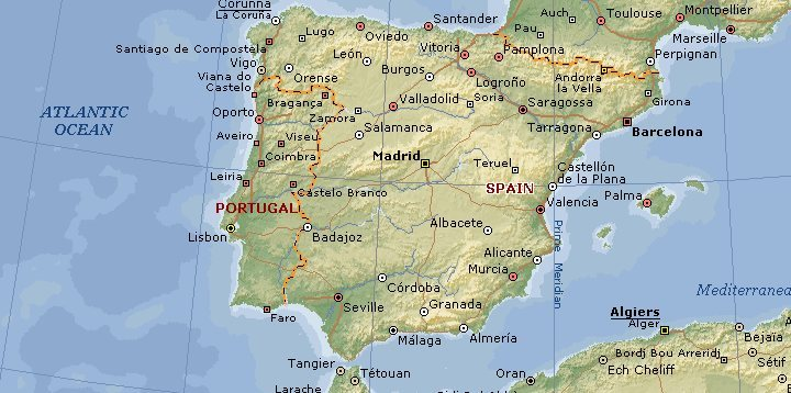 Karta Spanien Granada.Bertil Engelbert Resor