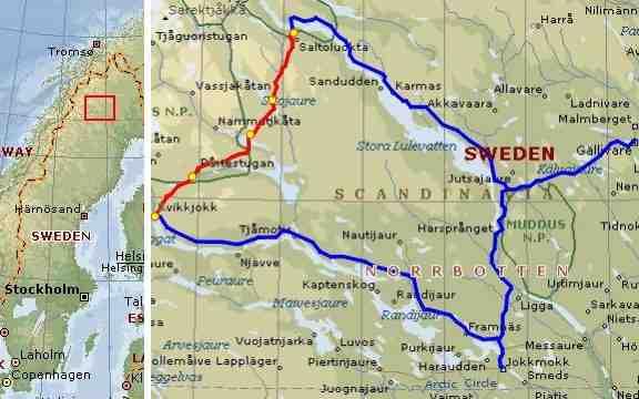 jokkmokk kart Bertil Engelbert Travels jokkmokk kart