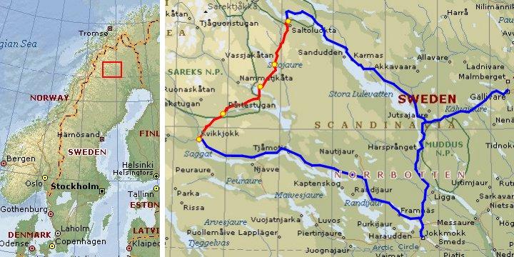 Bertil Engelbert Travels - Jokkmokk sweden map